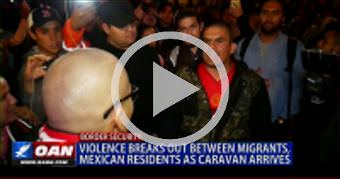 Violence breaks out between migrants, Mexican resi