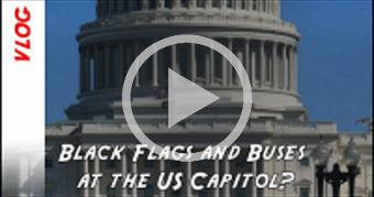 What are the black flags at the US Capitol and why